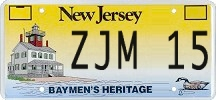 Example of a courtesy plate